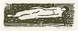 nude, modernisn, artist's proof, woodcut