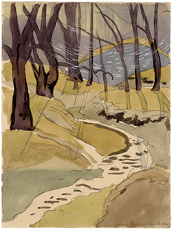 Summer. Landscape, Nature, Brook, Stream, Modernism, Regionalism