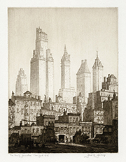 New York skyline, skyscrapers, New York old and new 1930, architecture