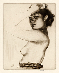 Portrait, Nude, Hawaiian Native, Young Girl