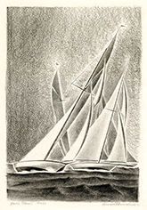 Yacht Racing, Sailing, Modernism, Precisionism, Colorado