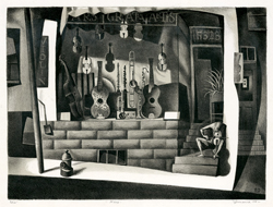 Musical Instruments, Music, Nero, Storefront, Modernism, Cubism, Guitar, Violin, Cello