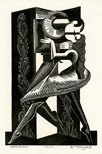Dancers, Couple, Ballet, Modernism, Art Deco, Precisionism